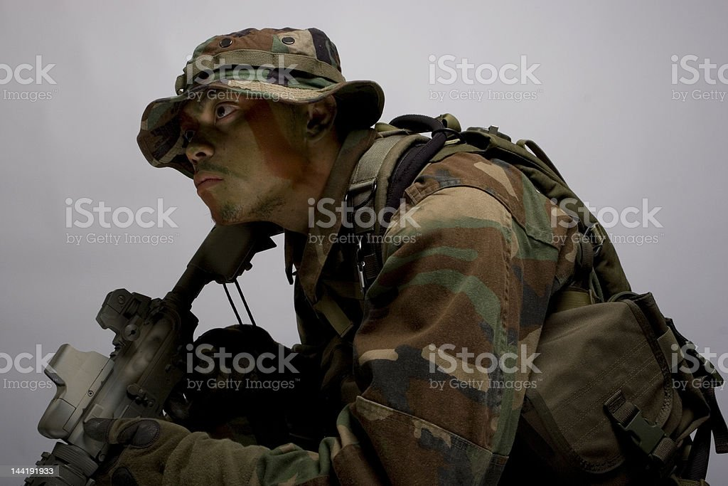 army soldier right side royalty-free stock photo