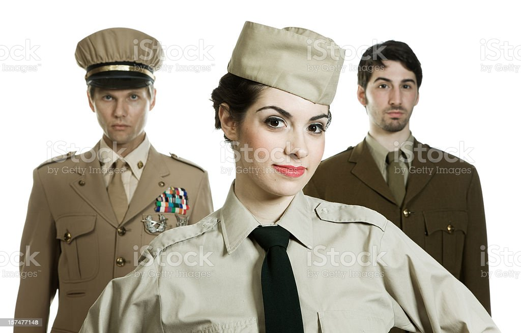 WWI Army soldiers royalty-free stock photo