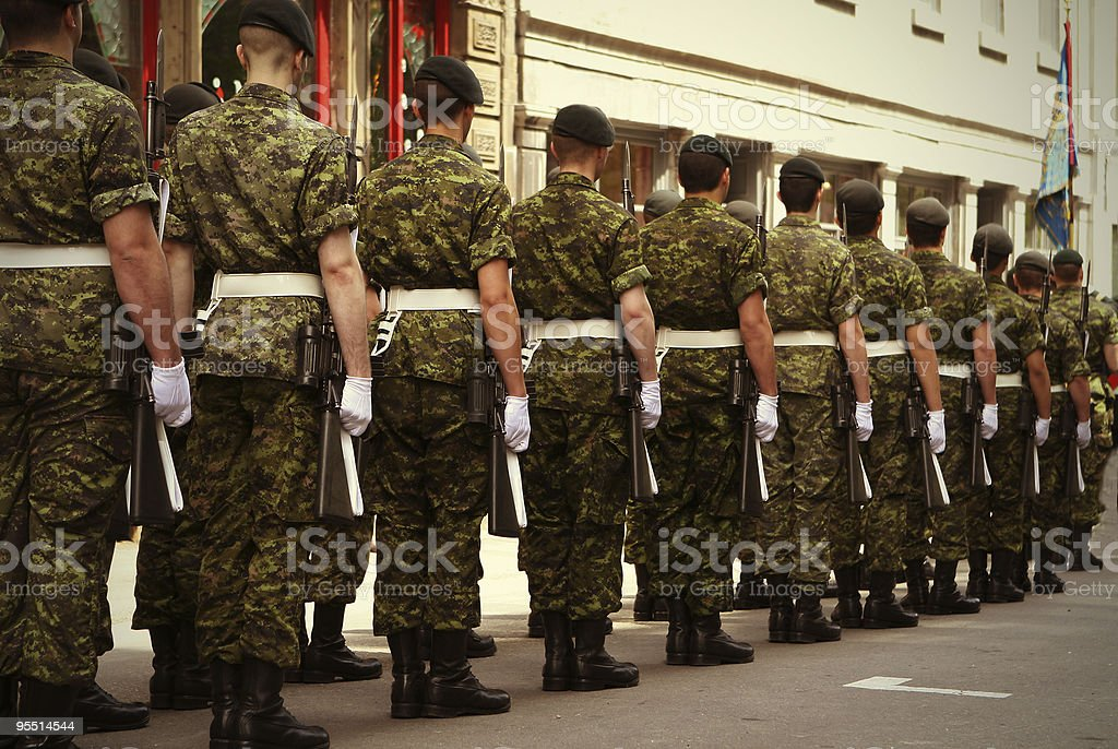 Army Soldiers stock photo