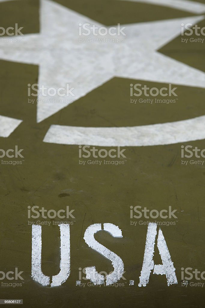 US army star on the bonnet of a military jeep royalty-free stock photo