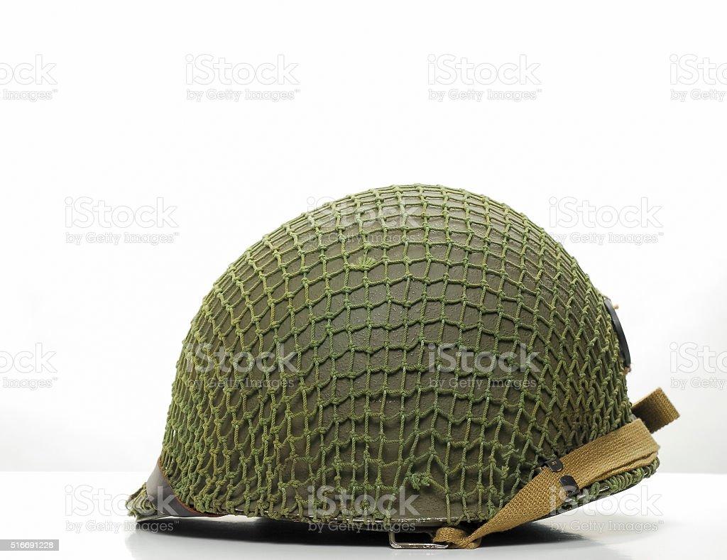 WW2 US Army Steel Helmet stock photo