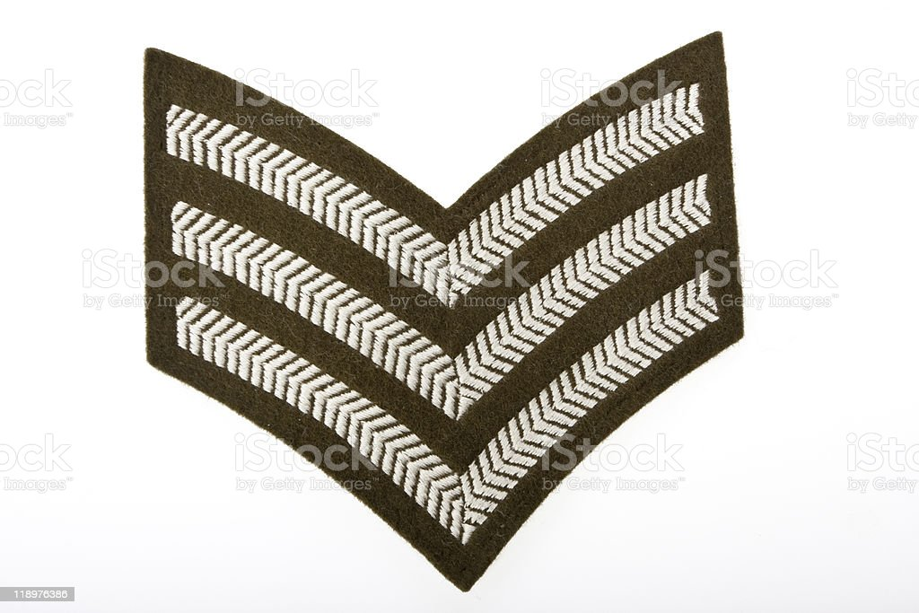 UK army stripes stock photo