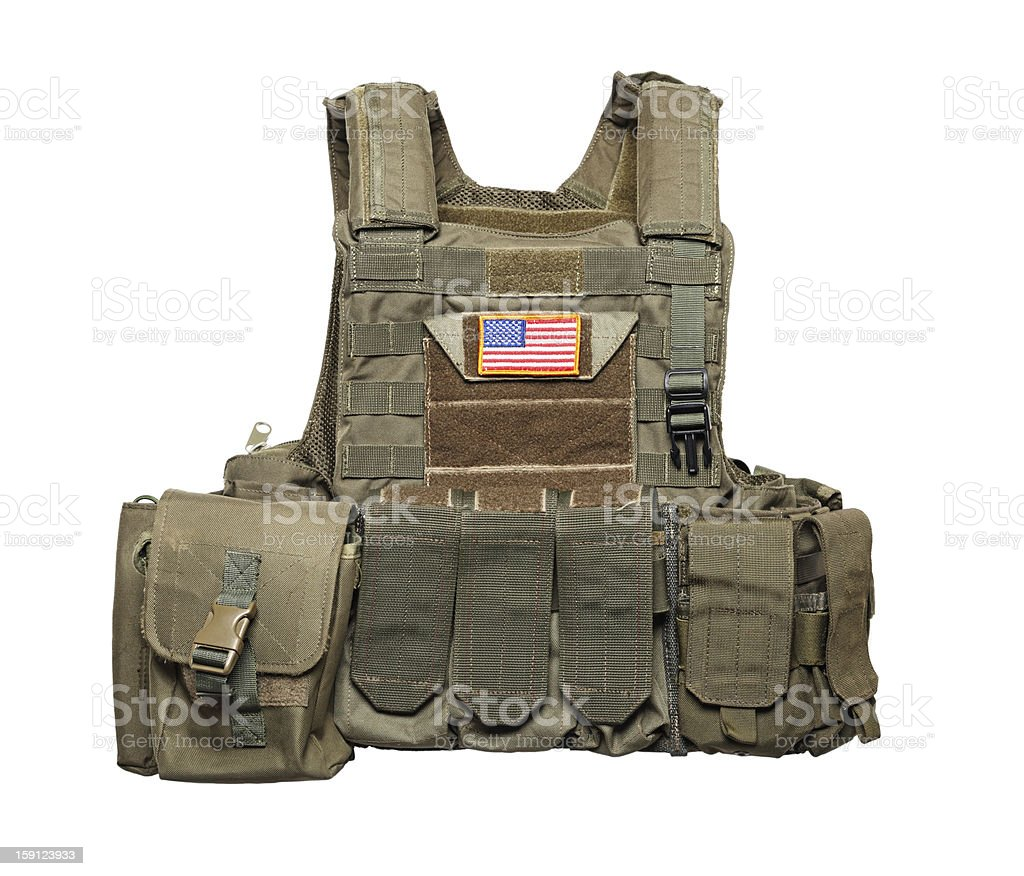 U.S. Army tactical bulletproof vest royalty-free stock photo