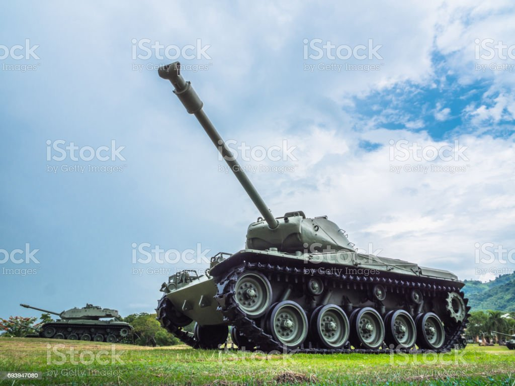 army tank ground defense and attack stock photo