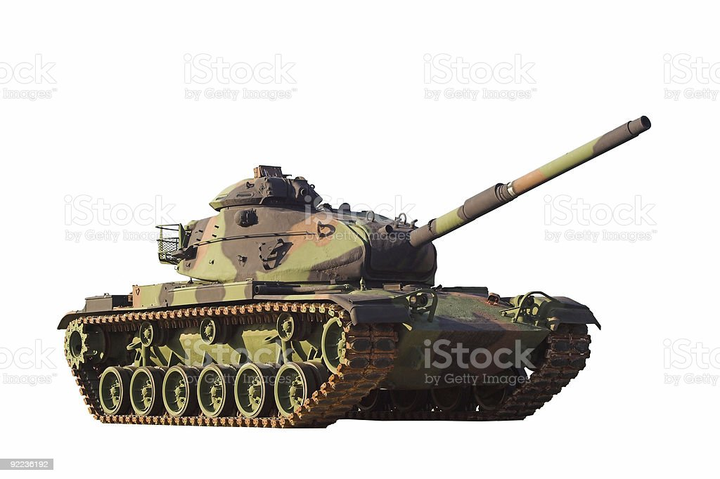 Army Tank - Isolated stock photo