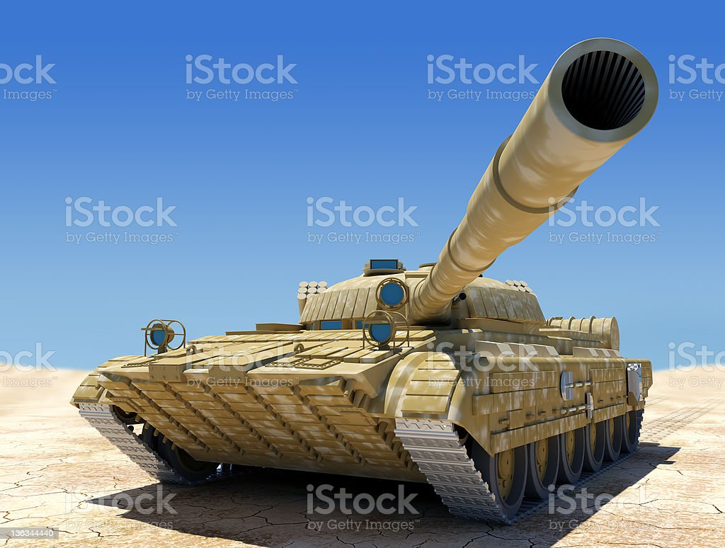 Army tank. stock photo