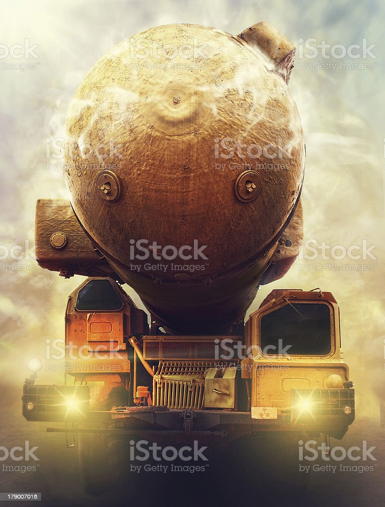 army truck nuclear rocket launcher royalty-free stock photo
