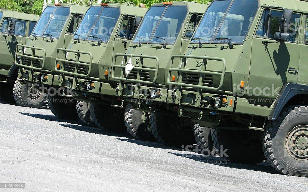 army trucks stock photo