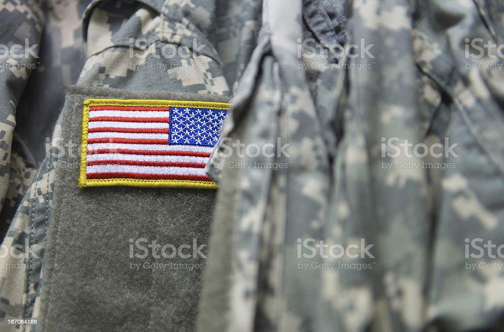U.S. army uniform stock photo