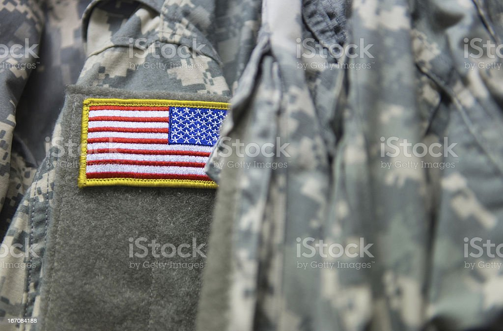 U.S. army uniform stock photo