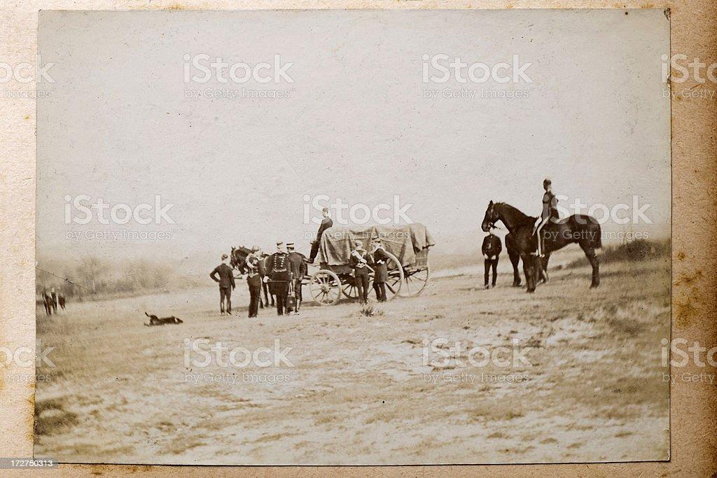 Army Wagon stock photo