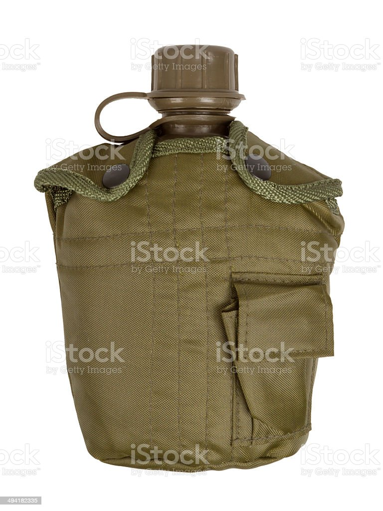 Army water canteen isolated royalty-free stock photo