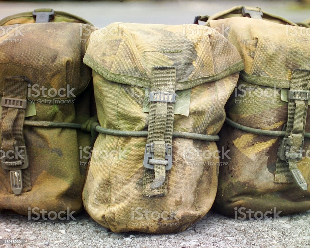 Army Webbing Pouches royalty-free stock photo