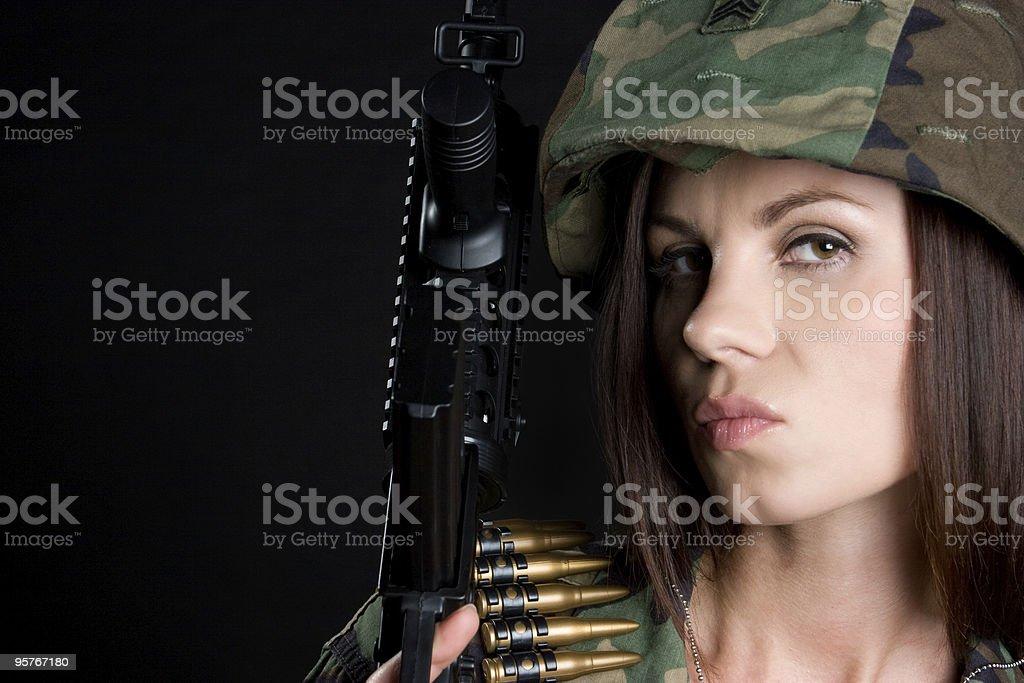 Army Woman stock photo