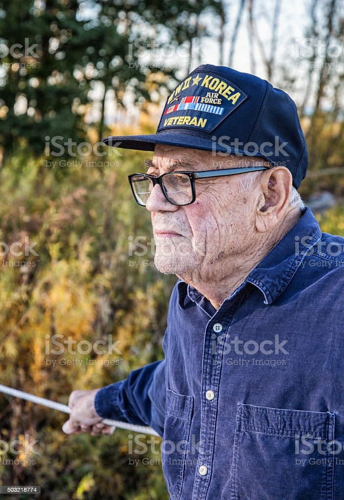 US Army WWII And Korea Conflict USA Military Veteran stock photo