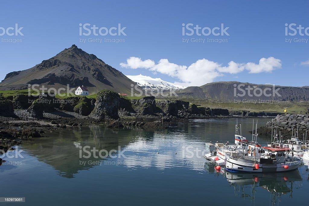 Arnarstapi at Iceland royalty-free stock photo