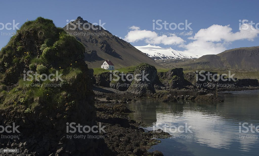 Arnarstapi at Iceland stock photo