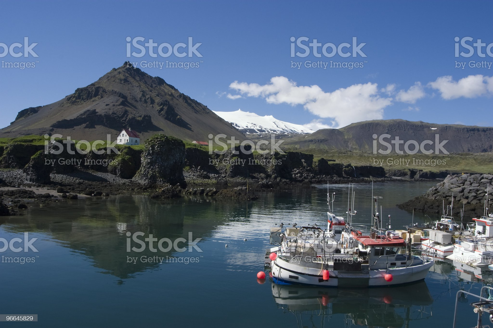 Arnarstapi Fishing hamlet in Icealnd royalty-free stock photo