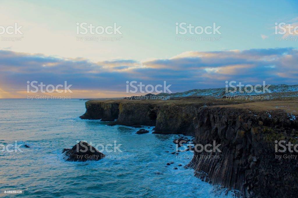 Arnarstapi, Iceland. stock photo