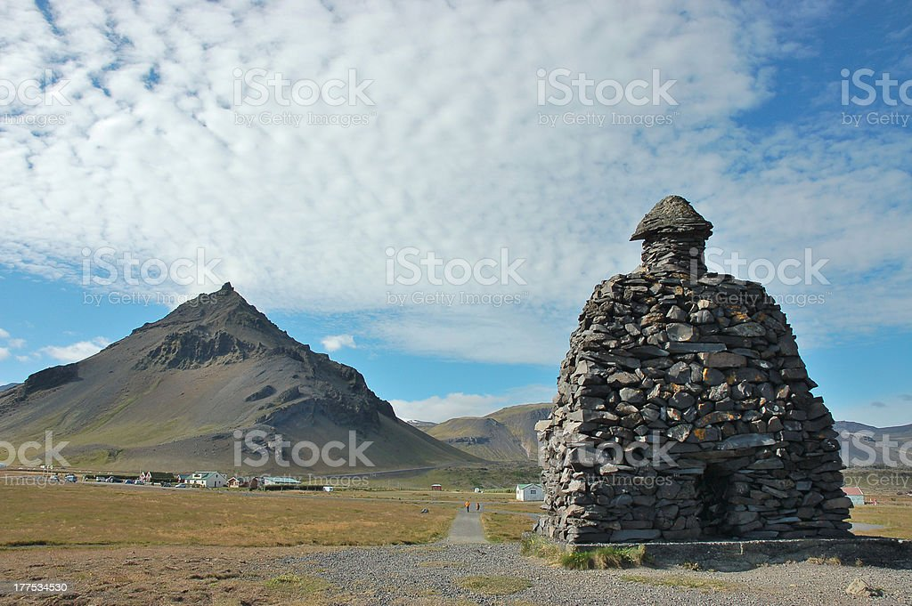 Arnarstapi landmark in West Iceland. royalty-free stock photo