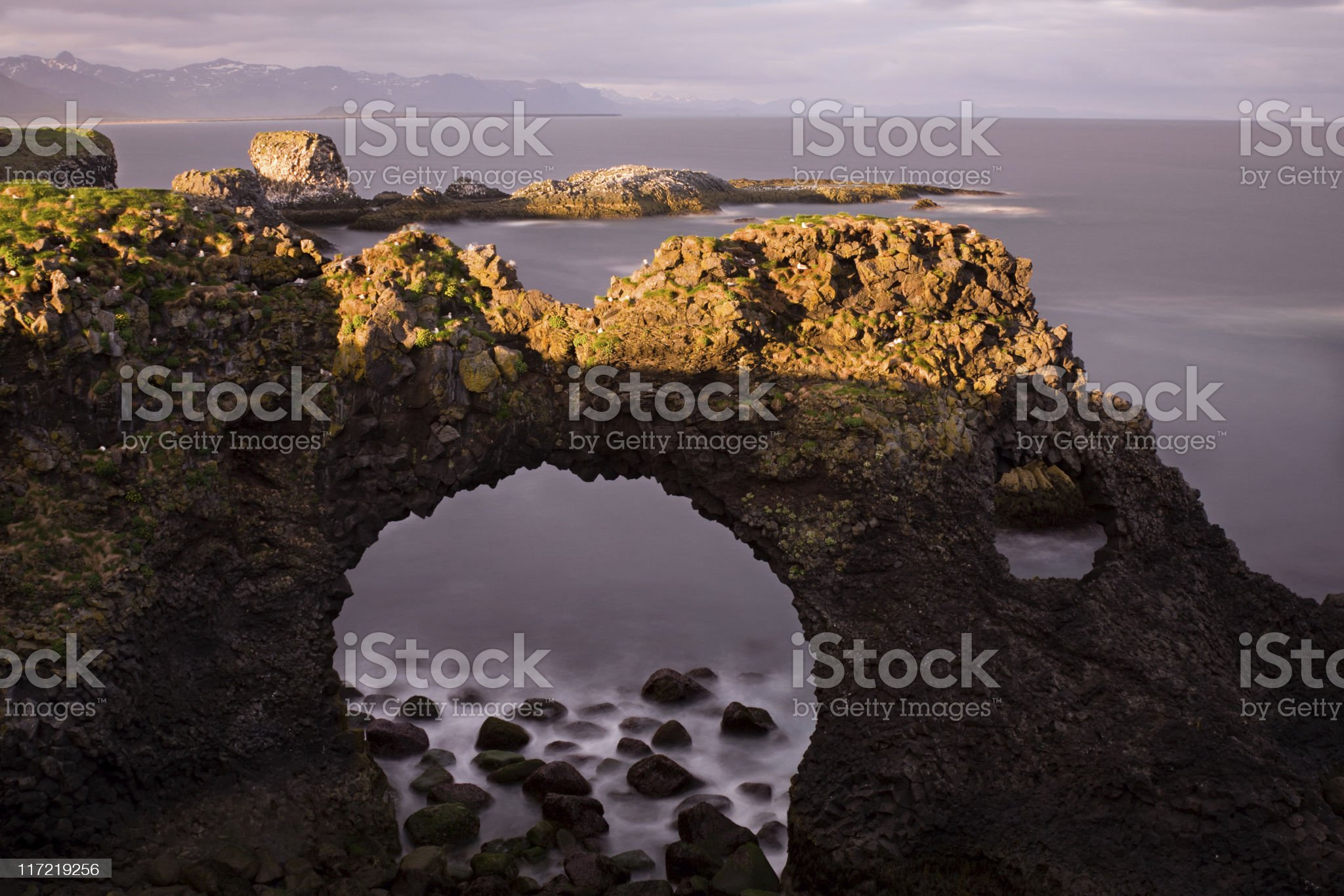 Arnarstapi Rock Window royalty-free stock photo