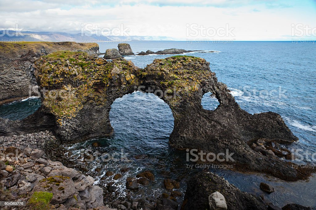 Arnarstapi Sea Arch stock photo