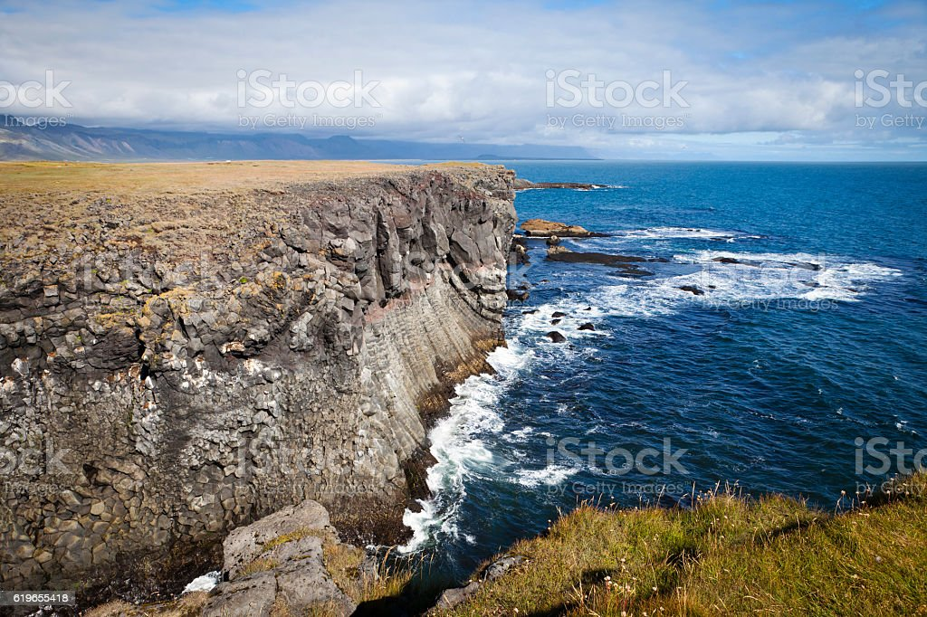 Arnastapi coast stock photo