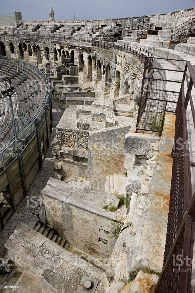 Arènes de Nîmes, Nimes, France stock photo
