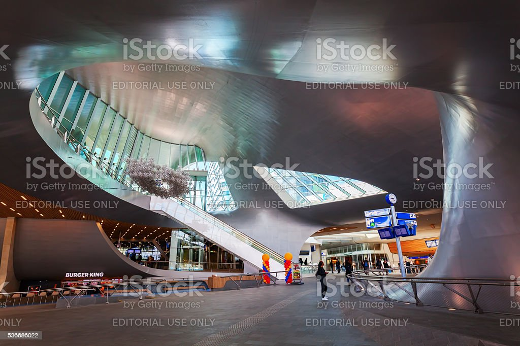 Arnhem Centraal railway station stock photo