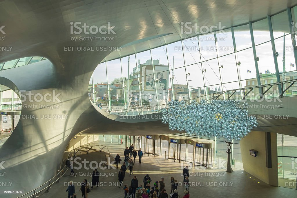 Arnhem Central newly designed train station in The Netherlands stock photo