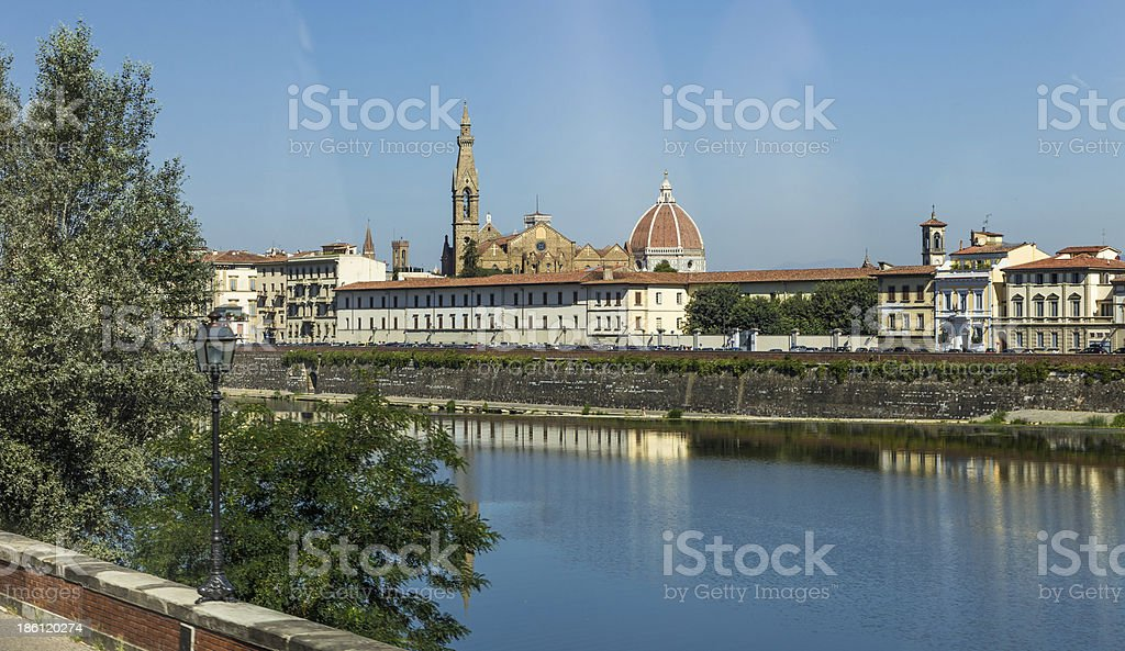 Arno river and bridges in Florence, Italy royalty-free stock photo