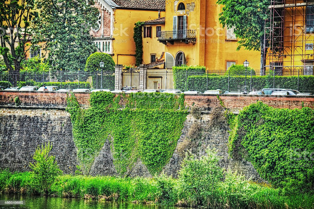 Arno river bank in Florence stock photo