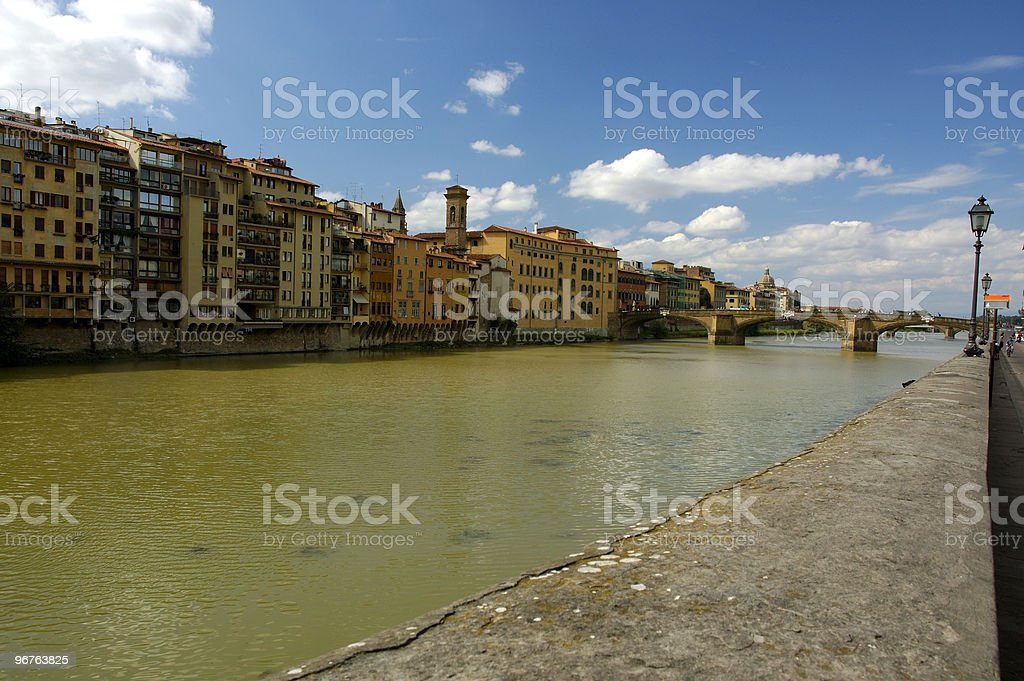 Arno River Florence Italy royalty-free stock photo