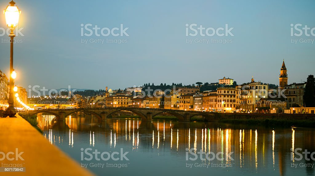 Arno River in Florence Italy stock photo