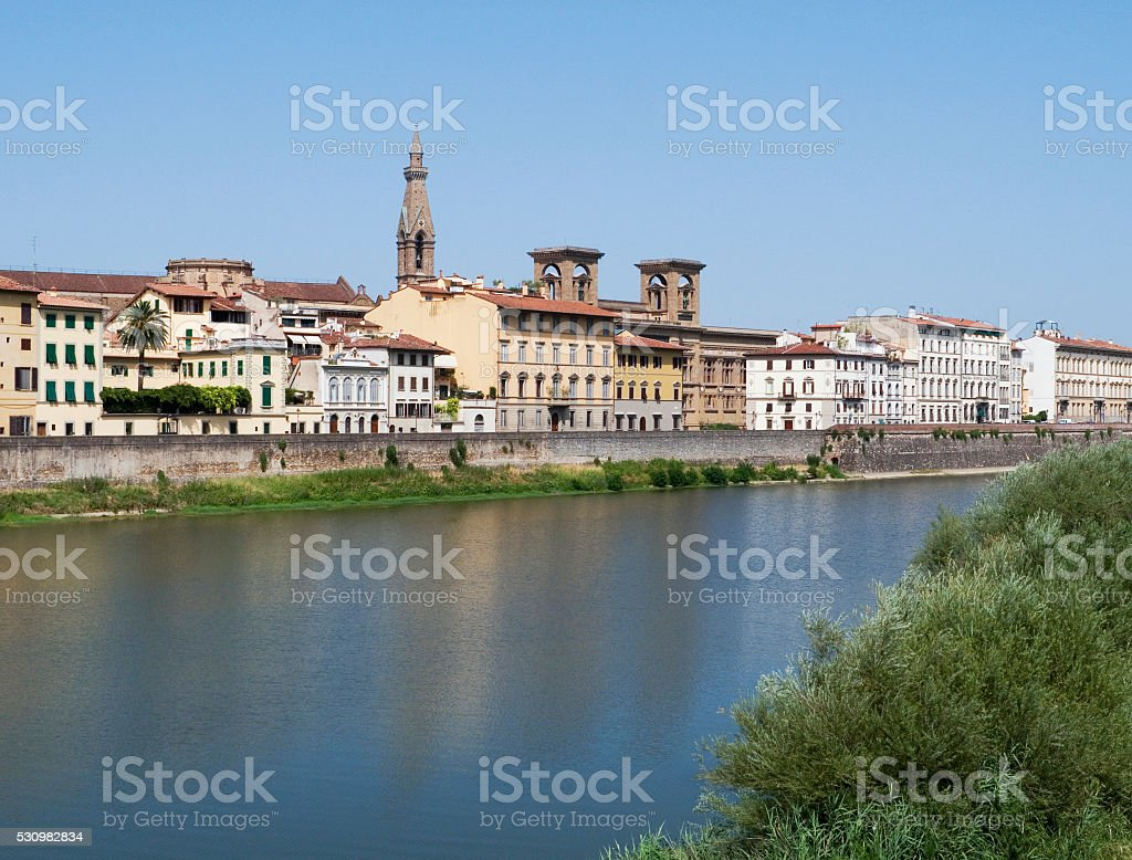 Arno river in Florence, Italy stock photo