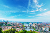 Arno river in Florence on a clear day