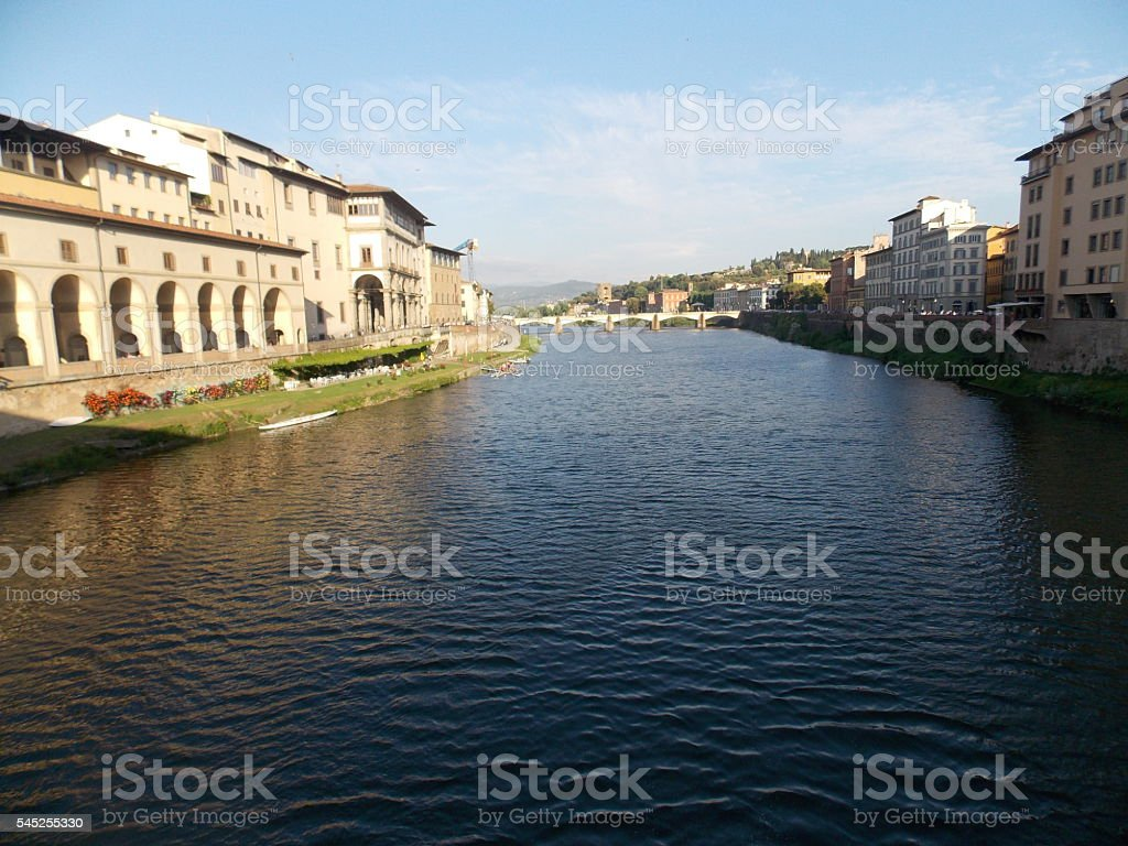 Arno River in Italy stock photo