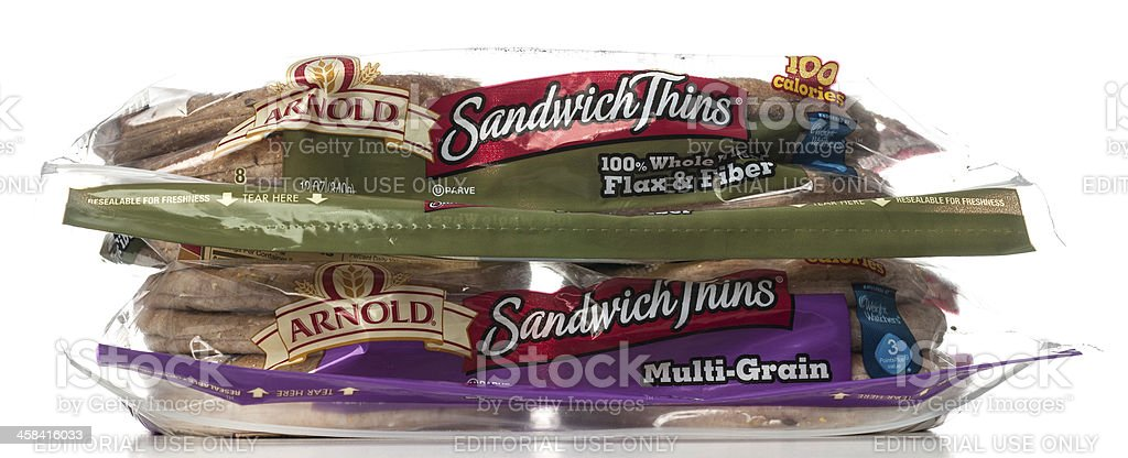 Arnold Sandwich Thins packages stock photo