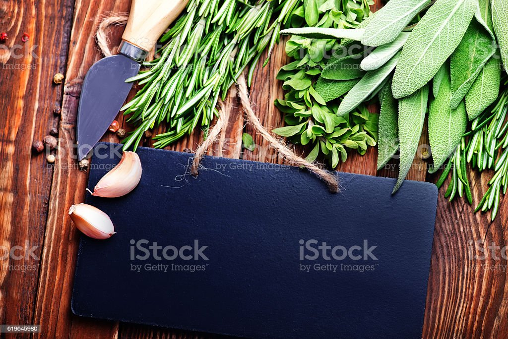 aroma herb and spice stock photo