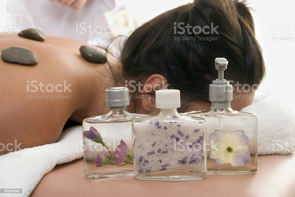 Aroma Products day spa stock photo