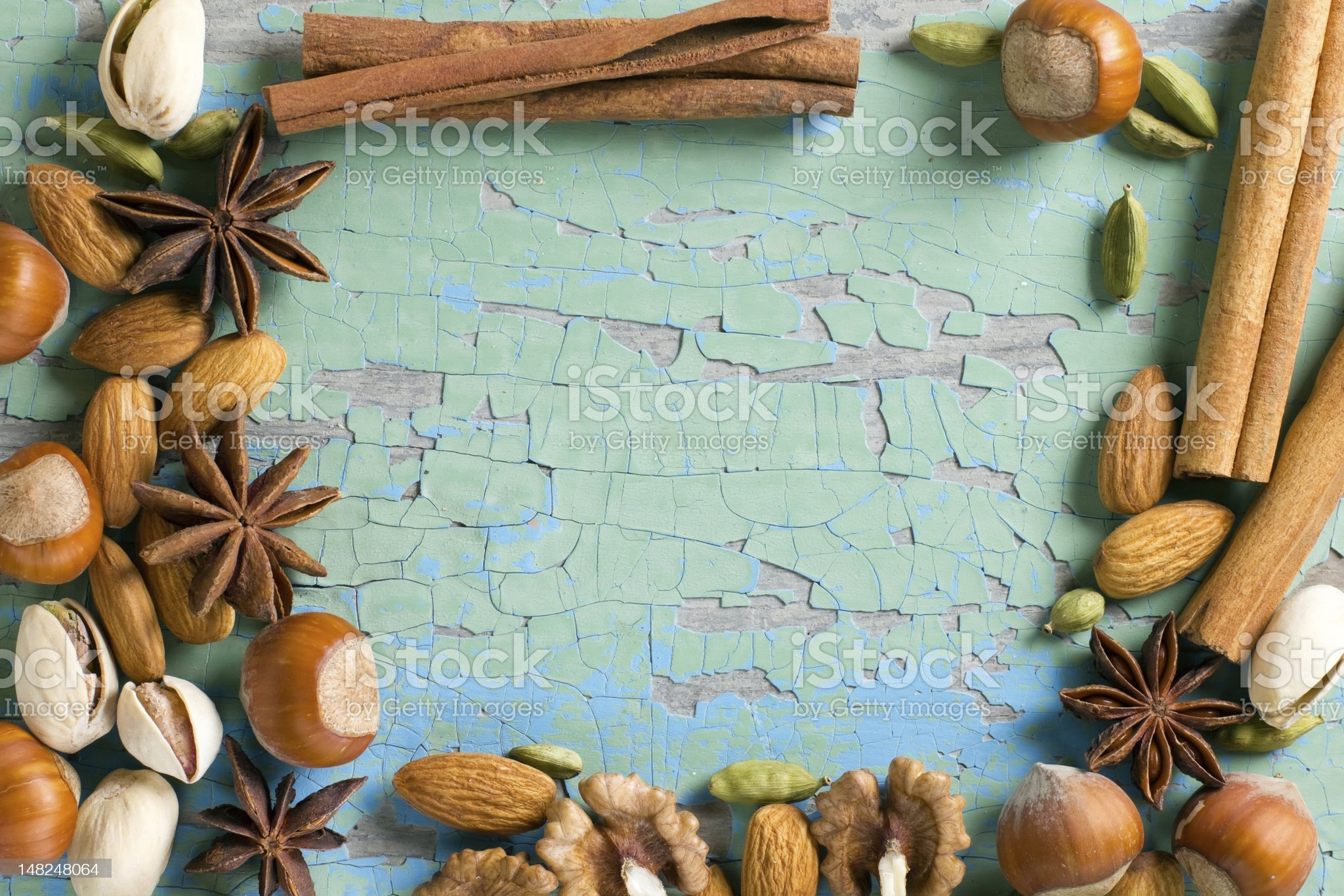 Aroma spices frame royalty-free stock photo