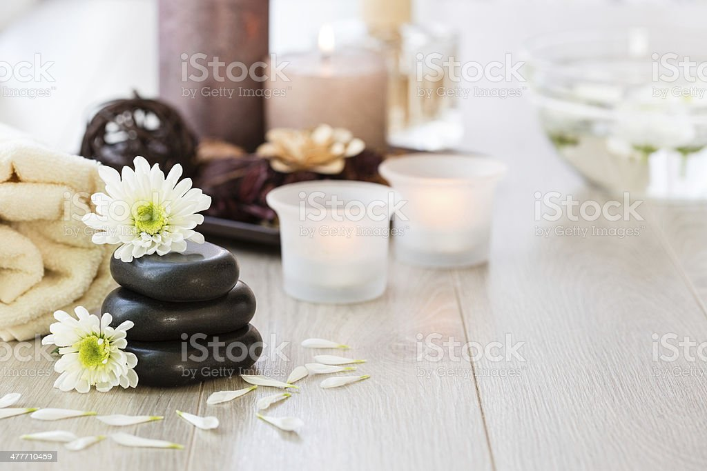 Aroma therapy and spa treatment concept stock photo