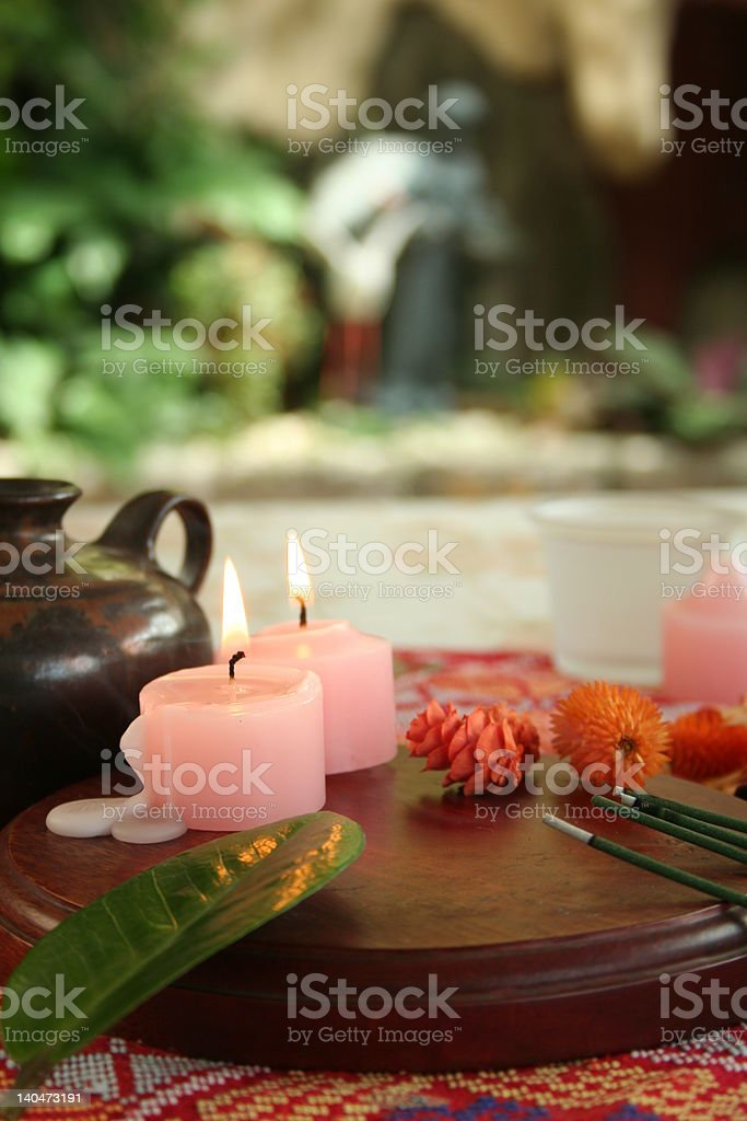 aroma therapy at the garden royalty-free stock photo