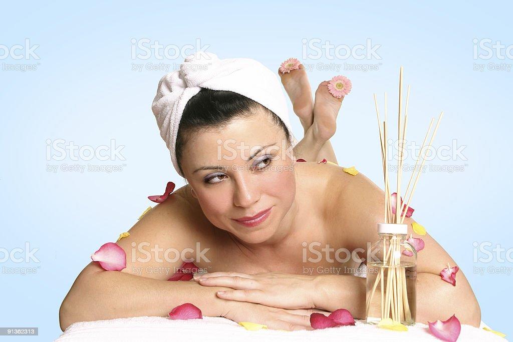 Aroma therapy beauty treatment royalty-free stock photo