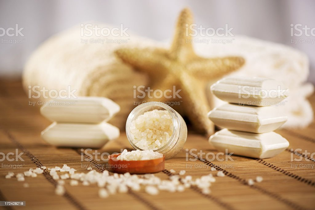 Aroma Therapy with bath salt royalty-free stock photo