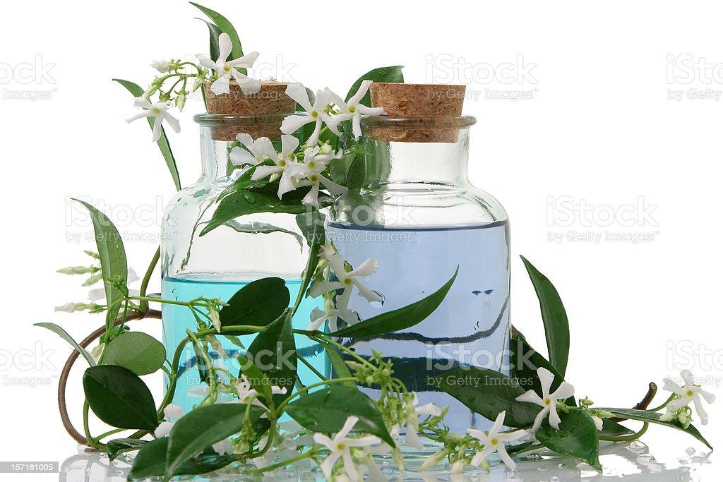 Aromatherapy and jasmine stock photo