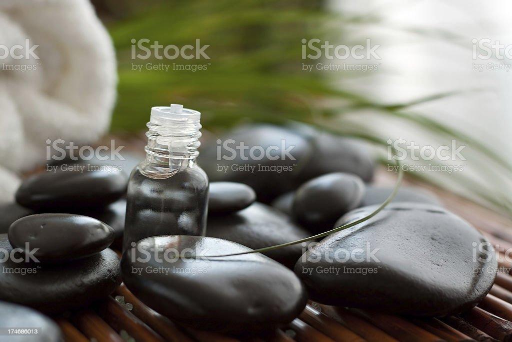 Aromatherapy and massage stones stock photo