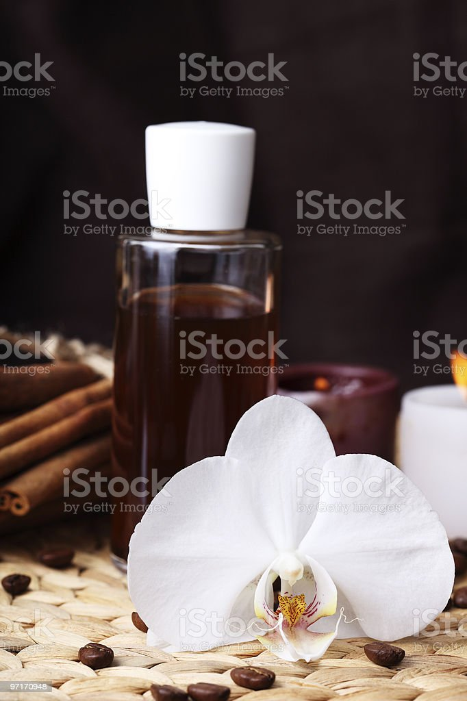 Aromatherapy and organic oils, body care stock photo