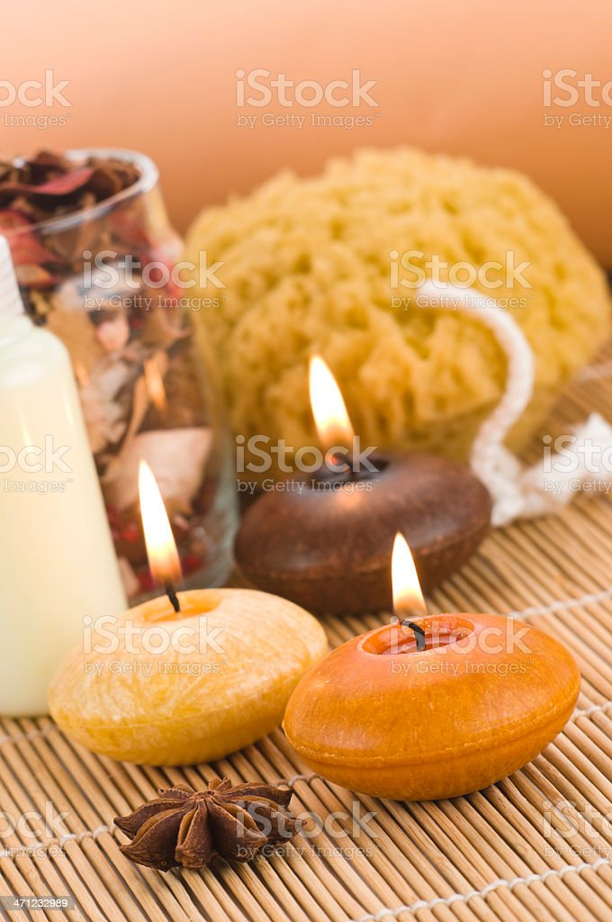 Aromatherapy Candles stock photo