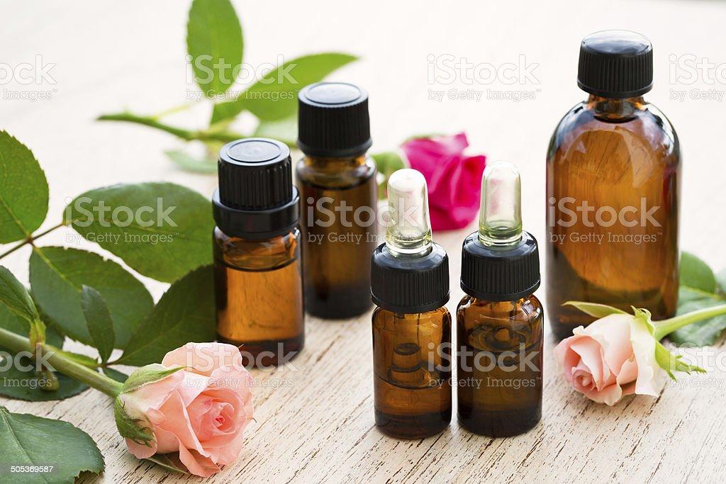 Aromatherapy essential oil stock photo